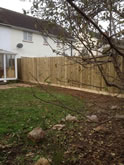 Garden Fencing Project in Exeter  -  Exeter Garden Fencing