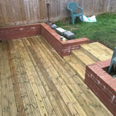 New installation in a nice small garden, decking and fencing construction in Exeter