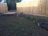 New landscaping project in Exeter which required a  new garden fence, raised flowerbeds and levelling of the garden