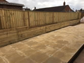 Lovely garden fencing and sleeper work, plus laying a big patio in Exeter